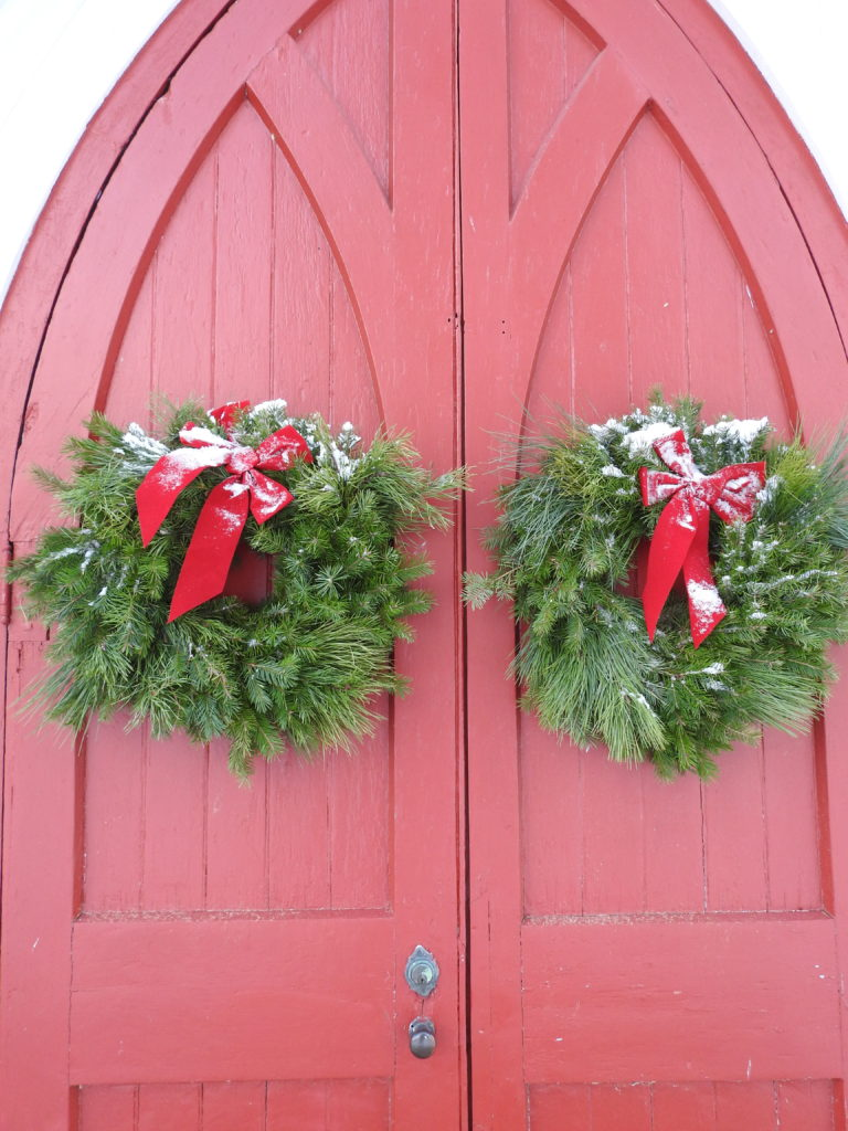Christmas Wreaths on St. Andrew's Doors