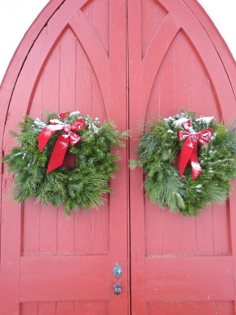 Christmas Wreaths on St. Andrew's Doors