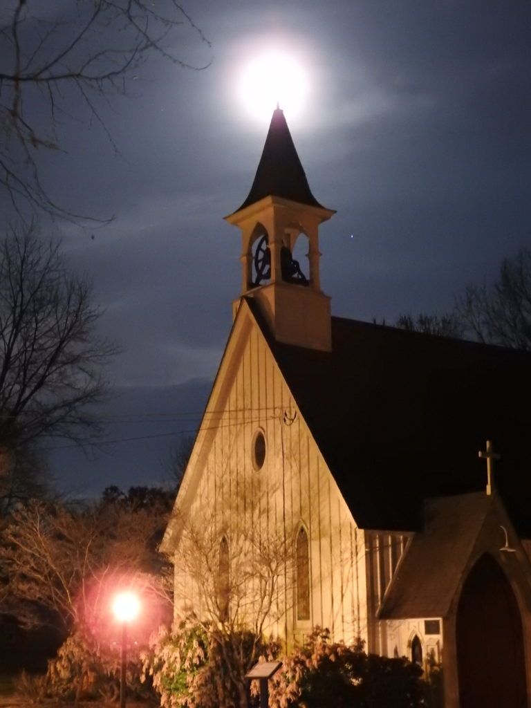 St. Andrew's Chapel with the moon